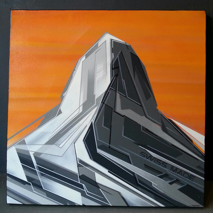 xavier magaldi_Cervin Matterhorn orange