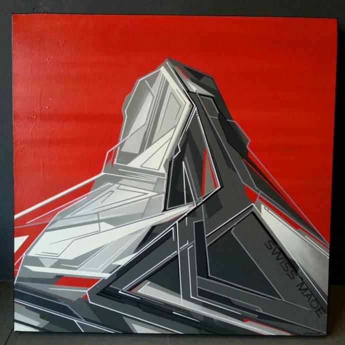 xavier magaldi_Cervin Matterhorn red