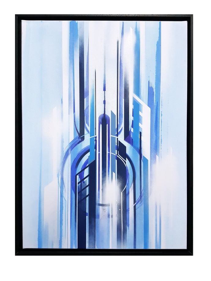 iazzu - interstellar Blue 1 Magaldi 50x70 2017