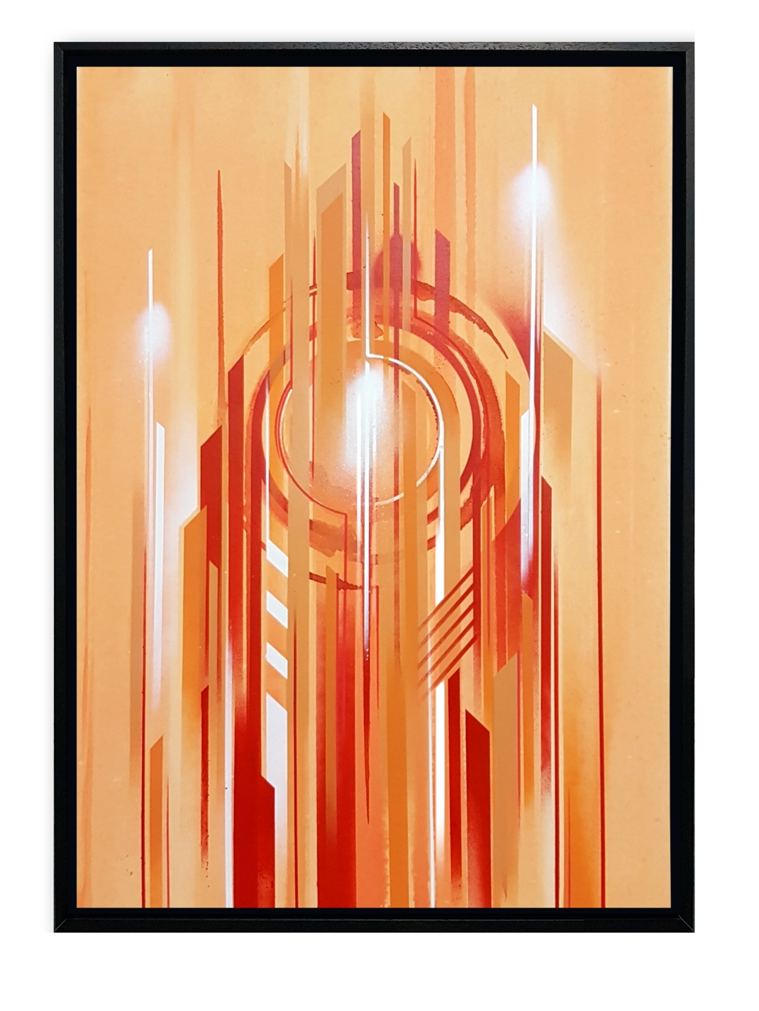 iazzu - interstellar orange Magaldi 50x70 2017