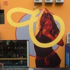 JARDIN ORANGE STREET-ART KEVIN LEDO