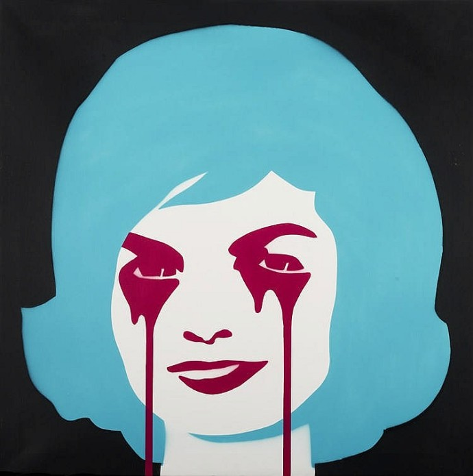17 PURE EVIL. JFK's nightmare. 100 X 100 cm. Acrílico y spray sobre lienzo, 2012