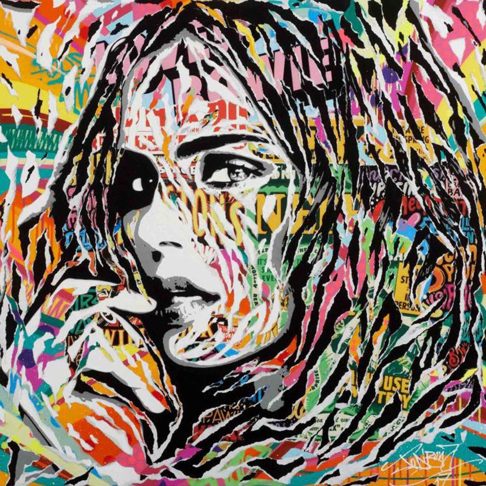 18 JO DI BONA, Remember me, 100 X 100 cm. Técnica mixta sobre lienzo, 2017