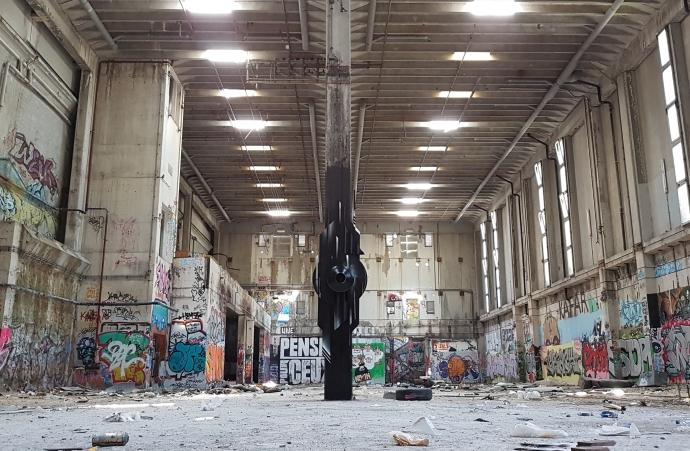 The Guardian URBEX MAGALDI Graffiti Sculpture 2018 -